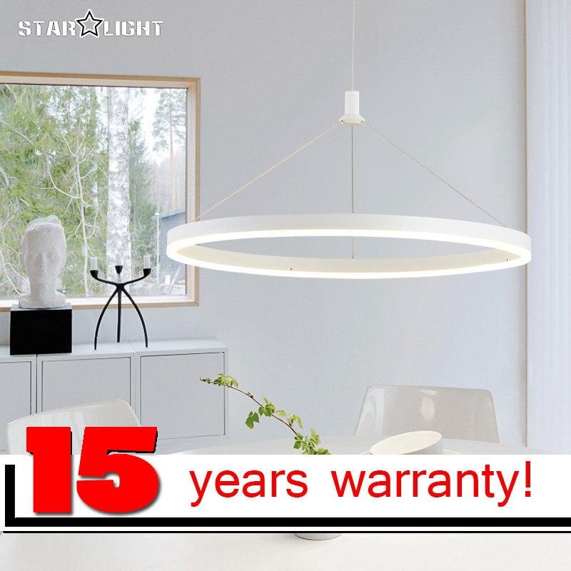 Ring LED Chandelier Aluminum Acrylic Lamp Modern Light Fixture Circle Hanging Lustres LED Luminaire Home Lighting