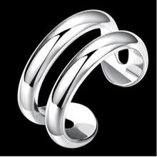 Fashion Popular Open 925 Silver Ring Girls Silver Jewelry Gift Decorations JZ42