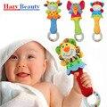 Mão do bebê chocalhos de brinquedo bonecas bb vara dos desenhos animados do bebê brinquedo fantoche de animais recém-nascidos 0-1 anos de idade vara de pelúcia