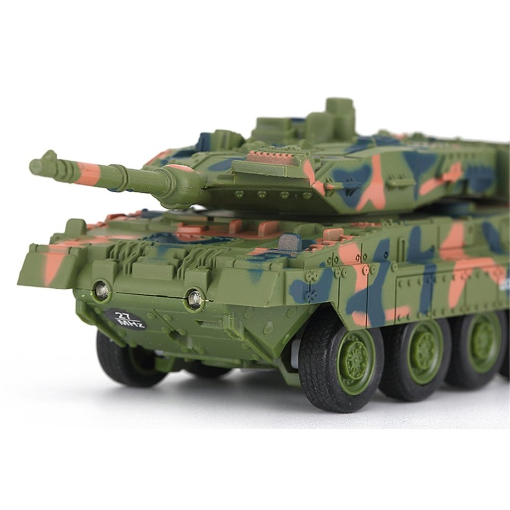 OCDAYPortable Size Remote Control Mini Battle Tank Toys Land Armor Tank CarRC Military Model Toy for Kids Children Birthday Gift