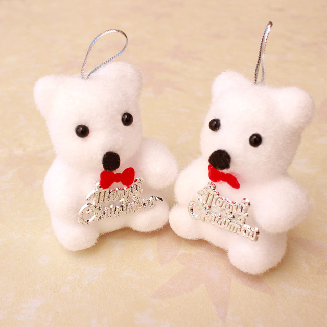 christmas decorations in the new year 400 sets of 800 pcslot of white bear - Bear Christmas Decorations
