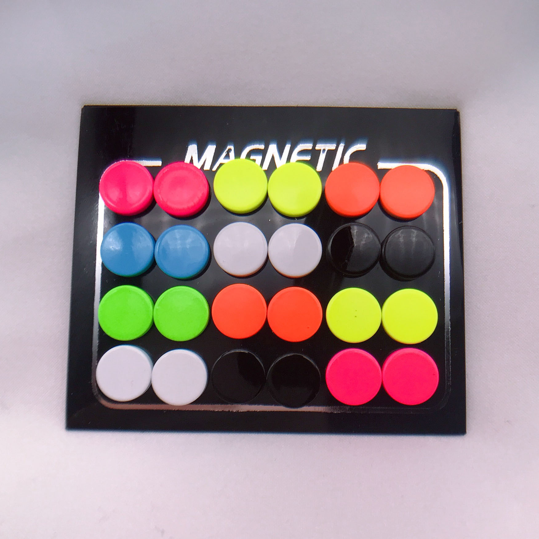 12 Pair lot 6 8 10mm Round Colorful Magnet Stud Earring Punk Magnetic Fake Ear Plug Body Jewelry for Women Men Ear Studs Magic in Stud Earrings from Jewelry Accessories