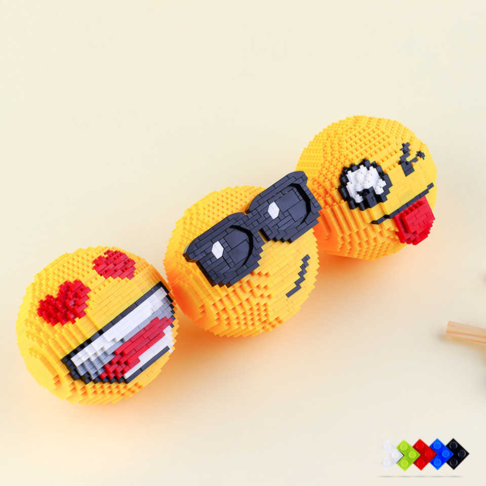 Classic Cartoon Image Assemblage Emoticon Kids Building Blocks Educational Mini Bricks Children Model Nanoblock Toys Gift