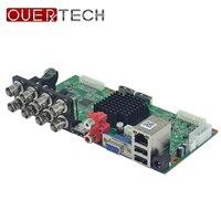 OUERTECH AHD CVI TVI IP CVBS 5 in1 8CH 4MP DVR board 4CH RCA Audio IN 2 SATA HDD Port ONVIF Surveillance CCTV DVR Main board