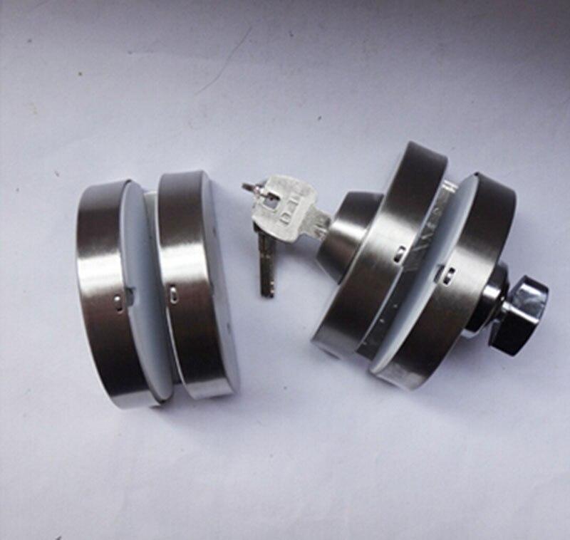 correderas de cristal cerradura de la puerta central de acero inoxidable sin agujero