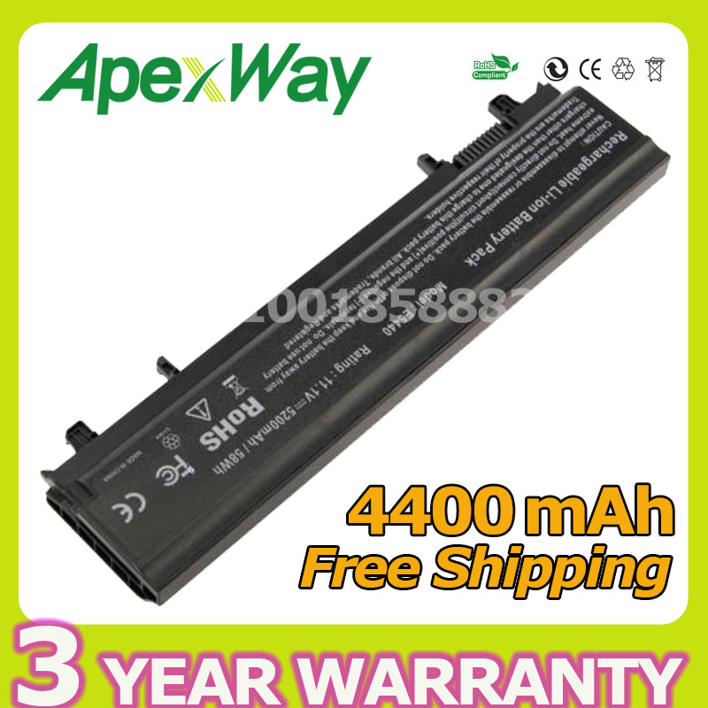 ApexWay 4400mAh 11.1v Laptop Black battery E5440 for DELL E5540 312-1351 N5YH9 TU211 3K7J7 970V9 9TJ2J VV0NF 451-BBID 451-BBIE