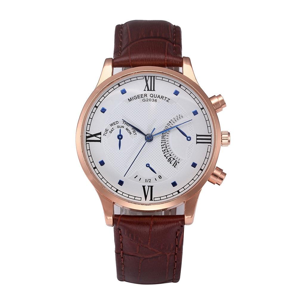 Man Watch Stylish Fashion And Simple Temperament Belt erkek kol saatleri Mens Watches Top Brand Luxury relojes para hombre