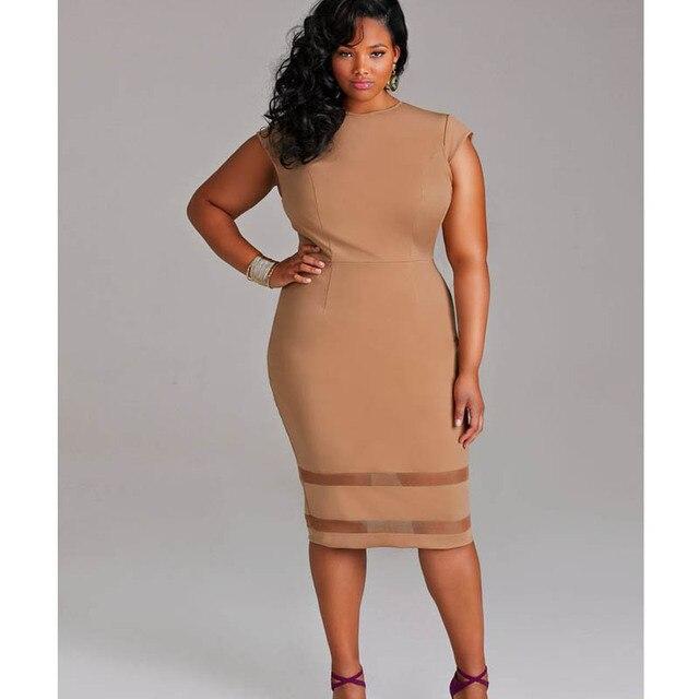 d4105986cb6e XXL XXXL 2016 Summer Plus Size Women Sexy Dress Sleeveless O-Neck Midi  Bodycon Dress