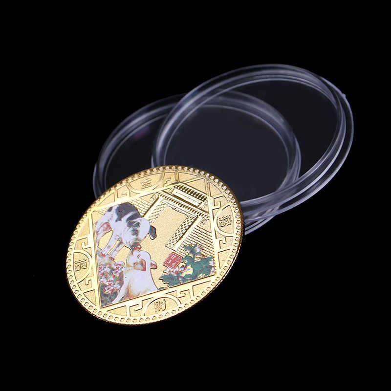 2019 sorte porco moeda comemorativa ano de porco enviar abençoada coleção de moedas ano novo presente estilo novo