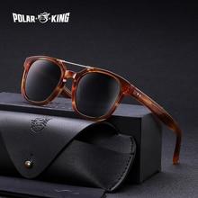 Polarking marca retro designer polarizado óculos de sol viajar unissex acetato óculos de sol para condução óculos de pesca oculos