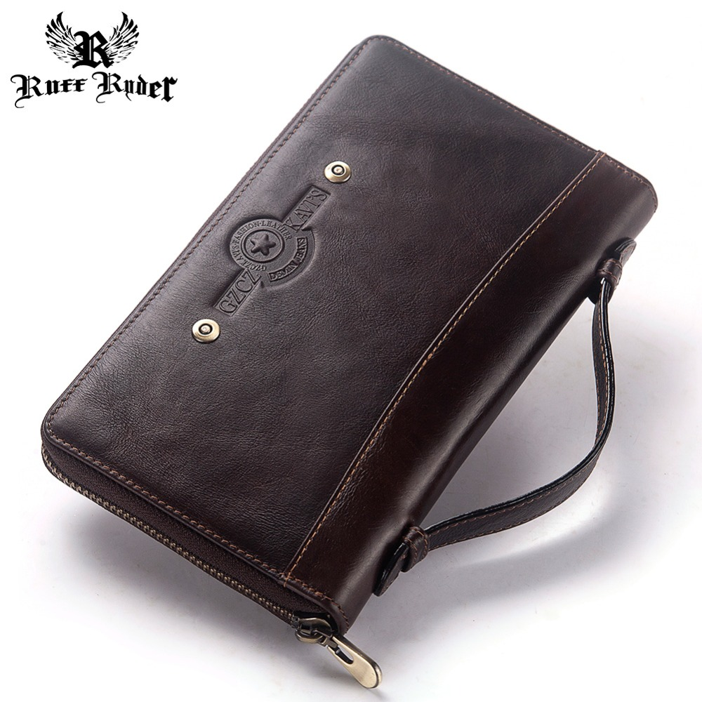 RUFF RYDER Cowhide Long Wallet Large Capacity Men Coin Purse Male Clutch Walet Portomonee PORTFOLIO Handy and Cell Phone BagRUFF RYDER Cowhide Long Wallet Large Capacity Men Coin Purse Male Clutch Walet Portomonee PORTFOLIO Handy and Cell Phone Bag