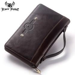 RUFF RYDER skóry wołowej długo portfel duża pojemność męska portmonetka mężczyzna sprzęgła Walet Portomonee PORTFOLIO wygodny i torba na telefon komórkowy|Portfele|   -