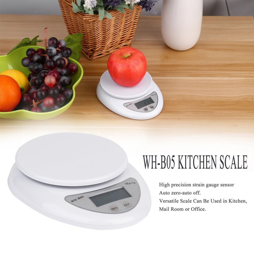5kg 5000g/1g Digital Kitchen Food Diet Postal Scale Electronic Weight Balance T0.2