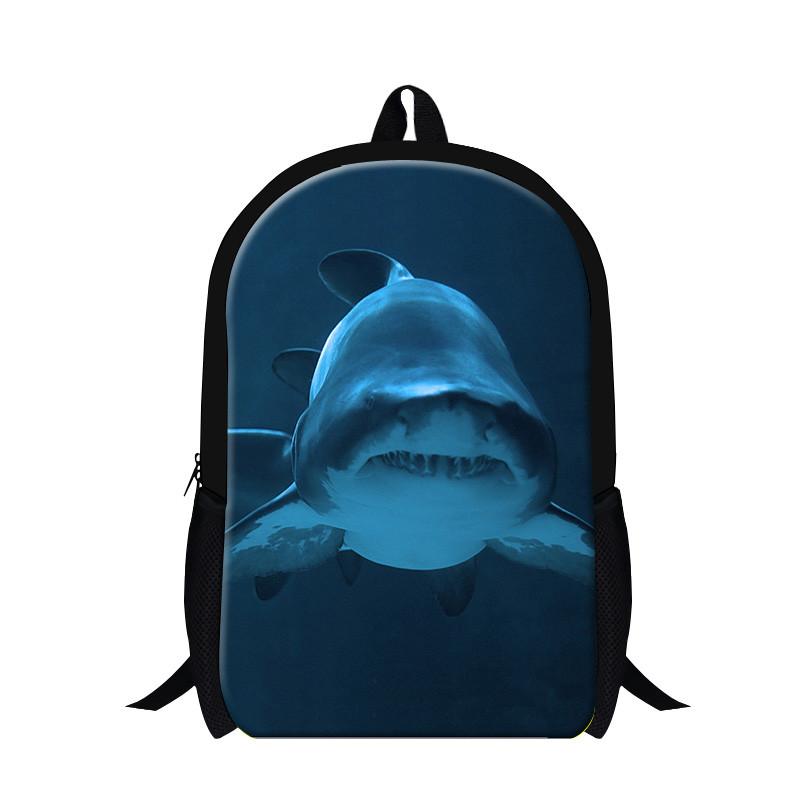 Shark Backpack for Kids Zoo dangerous Shark Print Bag Animals Schoolbags gift Elementary student Book bag