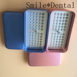 2 шт. 60 отверстие зубные Эндодонтических развертки Дезинфекция Box Дело держатель Блок
