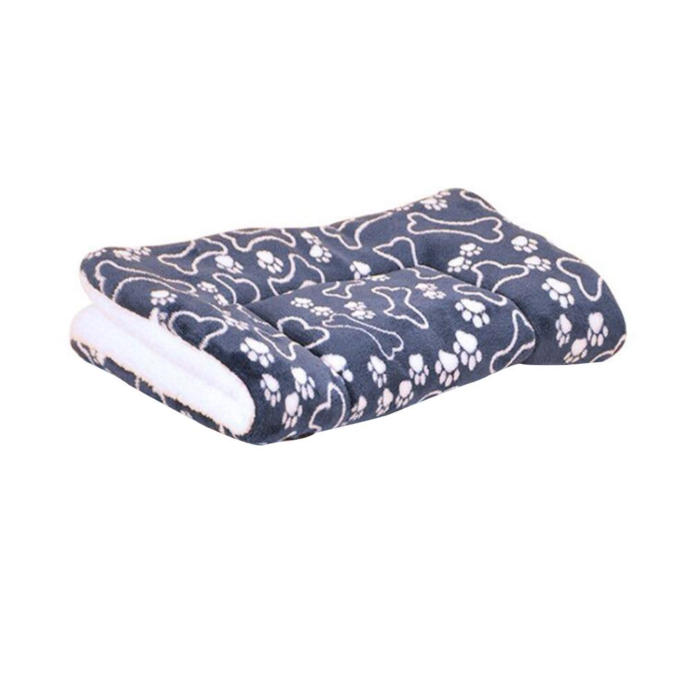 Thick Pet Flannel Mat Warm Washable Large Dog Bed Cushion Mattress Kennel Soft Crate Household Winter Quilt