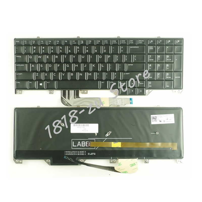 Yaluzu New Us Laptop Keyboard For Dell Alienware M17 17 R4 R5 English Black With Backlight Backlit Preventing Hairs From Graying And Helpful To Retain Complexion