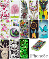 Casos de telefone tpu para iphone 5s 5 se 6 6 s 6 plus flor coruja crânio luminosa voltar soft case capa para iphone 7 case para iphone 7 plus