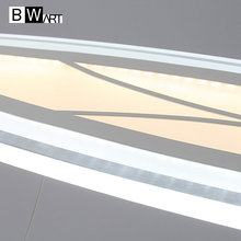 BWART study office modern LED ceiling pendant light rectangle Suspended Pendant lighting fixtures at home Let and Squares light
