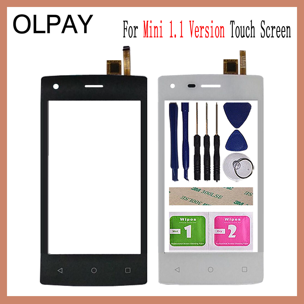 OLPAY 4.0'' Mobile Phone Touch Screen Digitizer For Tele2 Mini 1.1 Version Touch Glass Sensor Tools Free Adhesive And Wipes