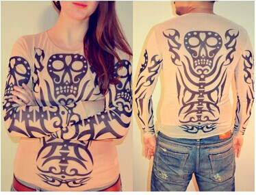 2017 free shipping punk fake tattoo shirts as promotion for Best fake tattoos