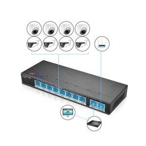 Image 3 - BESDER 802.3af/at 8CH POE Switch 10 Port 10/100 Mbps CCTV Switch 250 signal transmission 8 POE Ports 1 NVR+ 1 Uplink Port 123.2W