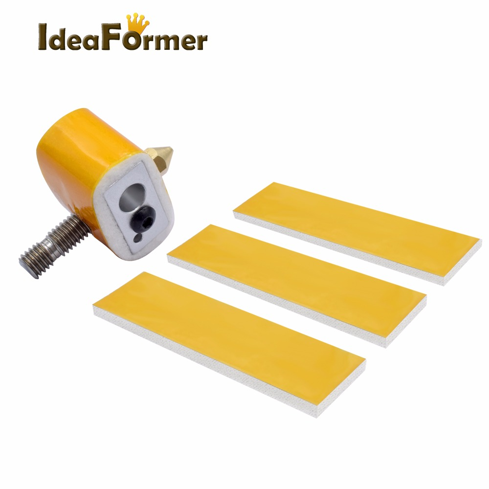 10pcs 3mm Thickness Heating Block Heat Insulation Cotton Part For MK8 MK9 Extruder Heated Thickness Parts Protect The Tape