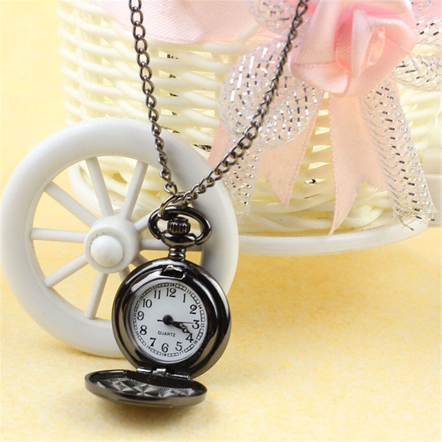 #5001Fashion Vintage Black Roman-Numerals Stainless Steel Quartz Pocket Watch  DROPSHIPPING New Arrival Freeshipping Hot Sales