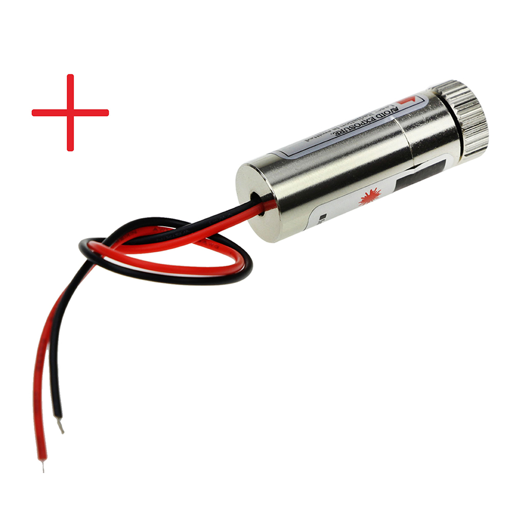 650nm 5mW Red Cross Laser Module Head Glass Lens Focusable Industrial Class 100mw650nm cross red laser head high power red positioning marking instrument high quality