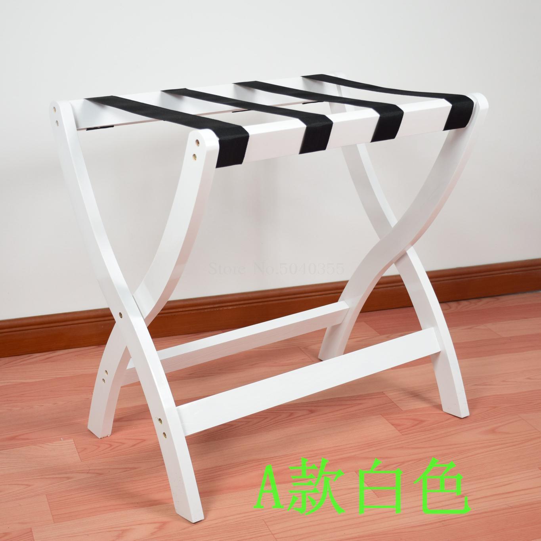 Гостиничная мебель для отеля багажные стеллажи прикроватная тумбочка для спальни складной домашний пол вешалка для одежды дерево - Цвет: VIP 6