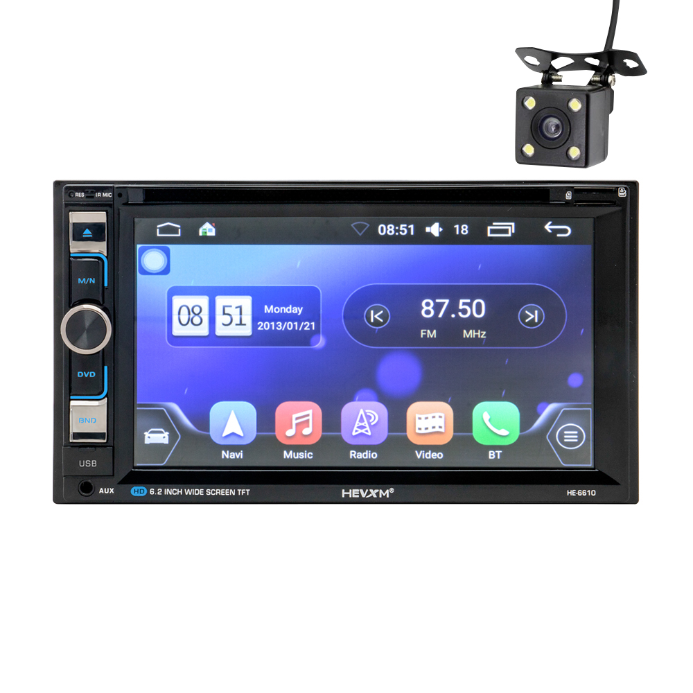 2 DIN numérique Android 6.0 Auto Radio Octa Core 7 pouces voiture universelle sans lecteur DVD GPS stéréo Audio unité de tête prise en charge DAB DVR OBD