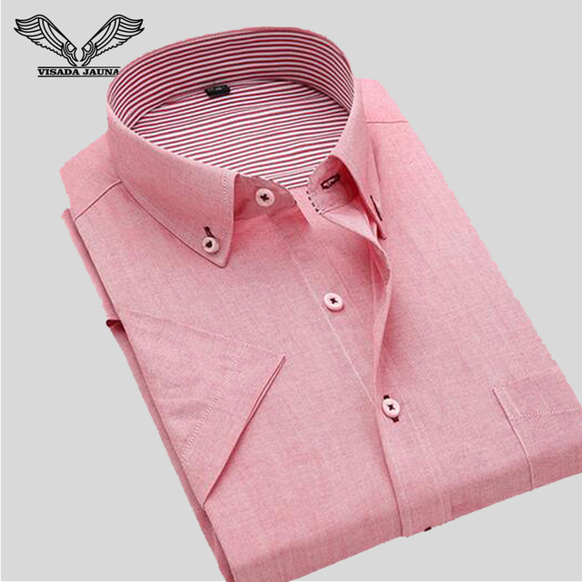 1888252e6ffc1 Plus Size 4XL Men Shirt 2017 New Arrival Summer Short Sleeve Cotton High  Quality Casual Brand