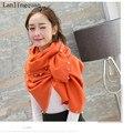 Desigual bufanda de lujo de la marca bufandas 2016 pashmina bufanda de cachemira sjaal Perla moda echarpe foulard mujeres solid nueva bufanda