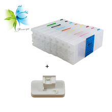 8 colors refill empty ink cartridge + chip resetter for Epson Stylus Pro GS6000 printer ink cartridge with chip resetter