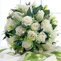 2017 Venta Caliente Noble Rosas Con Flores de Simulación de Corea Fotografía De La Boda Matrimonio Decoración de Flores Ramo de Novia de La Iglesia