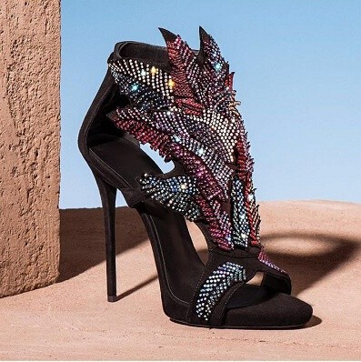 2016 Newest Brand Multicolor Crystals Leaf Suede Sandals Back zip Heel Cut-out Women Cage Shoes Summer Sandals For Women cut out ring detail zip leggings