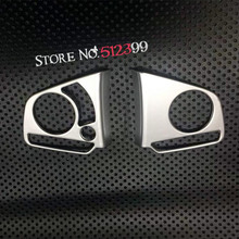 2pcs/ set Car Styling , ABS matte Accessories Steering Wheel Button Decorative Cover Trim for Honda CRV CR-V 2017 2018