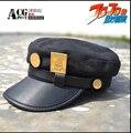 The comic y animación JOJO Bizarre Adventure Kujo Jotaro placas de metal viseras del sombrero