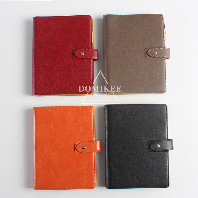 7e368a044 2017 New leather 6 hole spiral notebooks,classic office school personal  binder agenda planner organizer notebook stationery A5