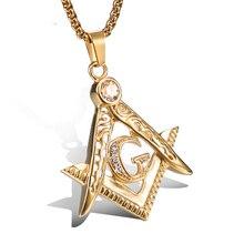 Jingjiangnecklace Подвески панк металлические золотые ювелирные изделия из нержавеющей стали титановая сталь domineer кулон любовники масонское ожерелье