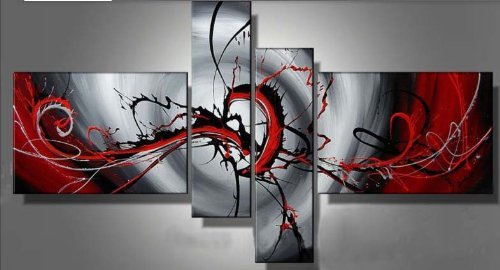 paintings on canvas modern paintings contemporary 4 panels wall