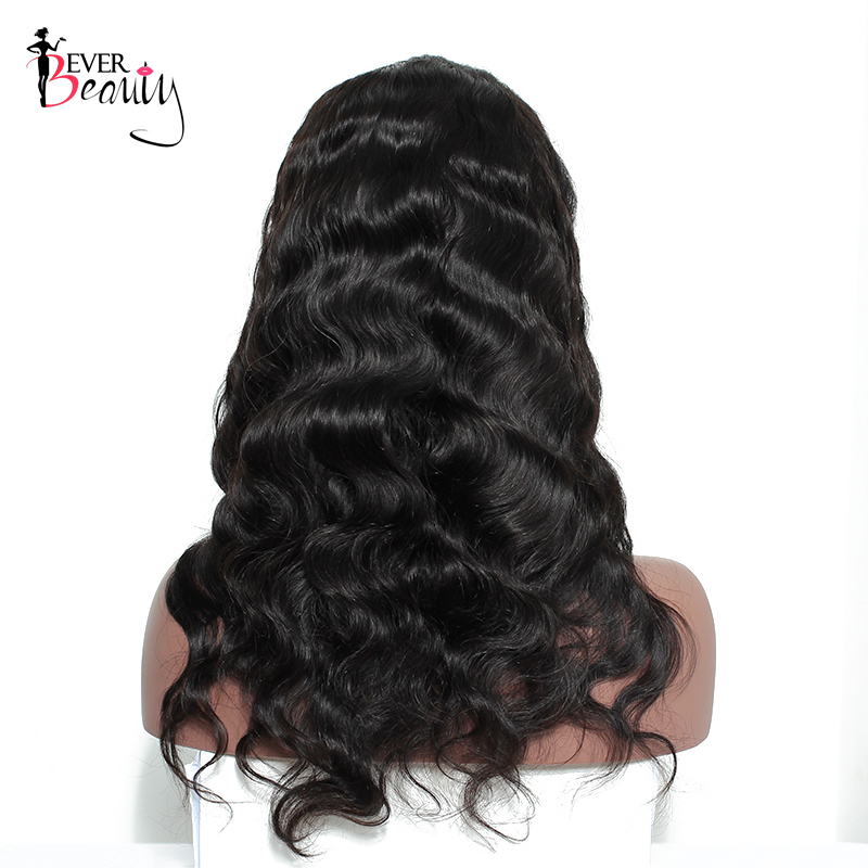 Ever Beauty 13x4 Lace Front Մարդու մազերի wigs - Մարդու մազերը (սև) - Լուսանկար 4