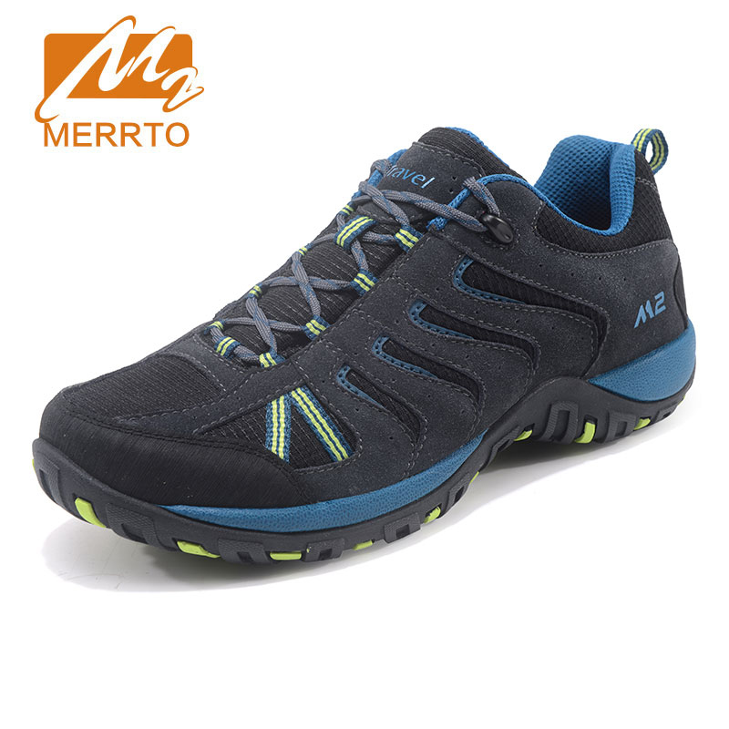 MERRTO Outdoor Hiking Shoes For Men Suede Leather Winter Boots Trekking Shoes Breathable Walking Sneakers Men Sports Sneakers car rear trunk security shield cargo cover for ssangyong actyon 2008 09 10 11 12 13 14 15 16 2017 high qualit auto accessories
