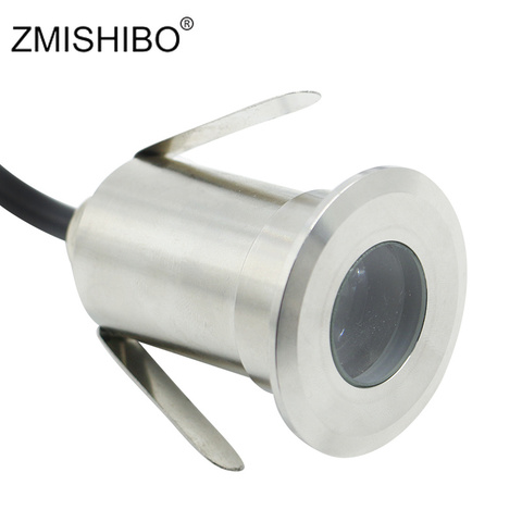 ZMISHIBO IP67 Waterproof Stainless Steel Underwater Spotlight 12V 32mm Cut Hole Swimming Pool Fountain Silvery Landscape Lamp Pakistan