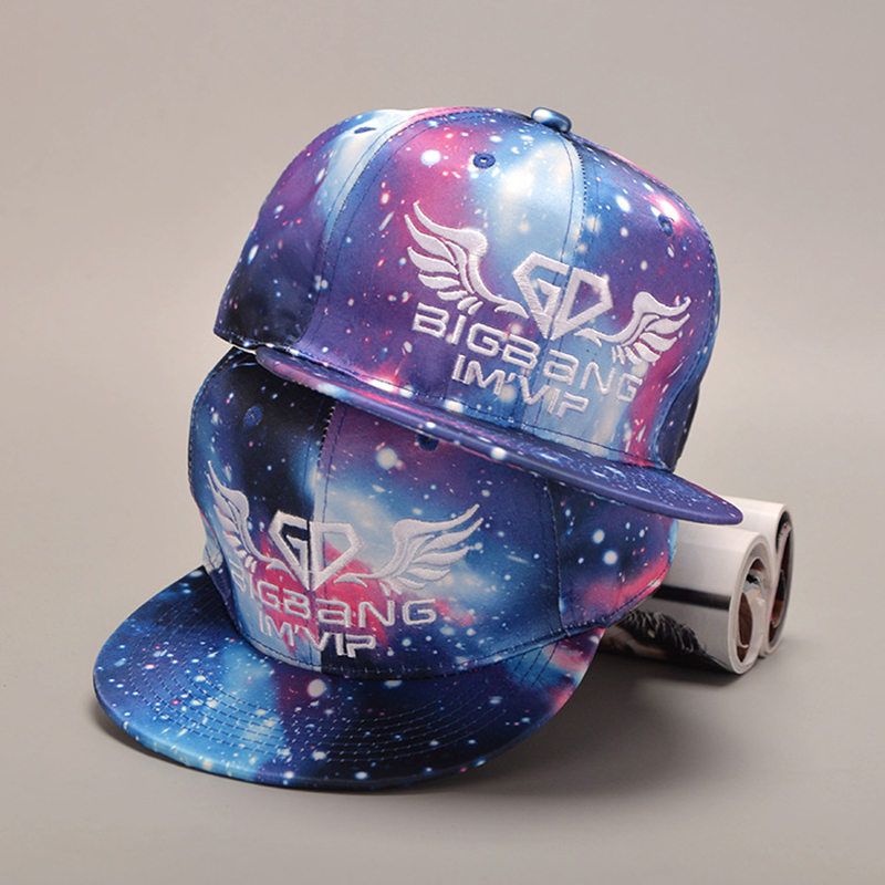 GD Wings SnapBack Galaxy Pattern Space Star Baseball Cap For Men Women Hip hop Snapback Polo Letter Cap Male Summer Bone Hat wholesale spring cotton cap baseball cap snapback hat summer cap hip hop fitted cap hats for men women grinding multicolor