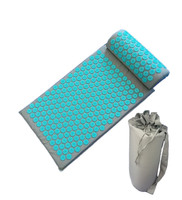 Massager (appro.67*42cm)Cushion Mat Acupressure Relieve Back Body Pain Spike Pad Acupuncture Massage Mat with Pillow