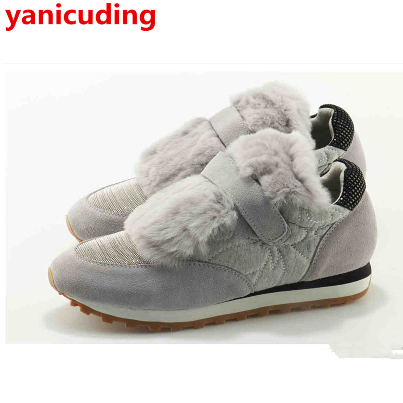 yanicuding Fashion Lace Up Leather Women Shoe Fur Embellished Girl Lady Winter Shoe Round Toe Flats Casual Loafer Cool Outfitter chic elegant lady style bow lace up embellished folding soft straw hat for women