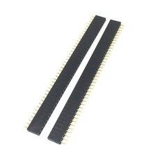 10 шт. 1X40 PIN Однорядный прямой штыревой разъем 2,54 мм шаг полосы разъем 140 40p 40PIN 40 PIN для PCB arduino