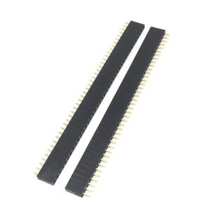 10PCS 1X40 PIN Single Row Straight FEMALE PIN HEADER 2.54MM PITCH Strip Connector Socket 140 40p 40PIN 40 PIN FOR PCB arduino(China)