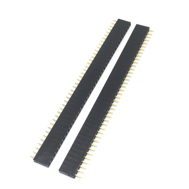 10PCS 1X40 PIN Single Row Straight FEMALE PIN HEADER 2.54MM PITCH Strip Connector Socket 140 40p 40PIN 40 PIN FOR PCB arduino